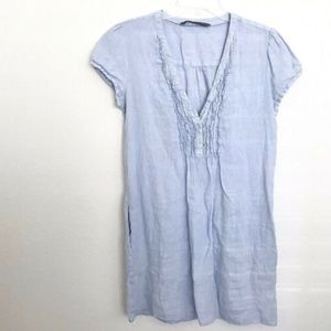 ZARA BASIC Linen Tunic Dress